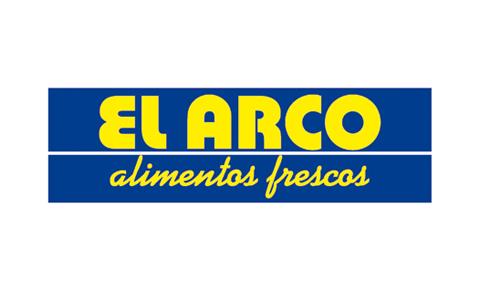 Logotipo de alimentos El Arco, patrocinador de la fundación Marino Gutiérrez