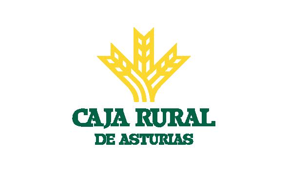 Logotipo de Caja Rural, patrocinador de la fundación Marino Gutiérrez